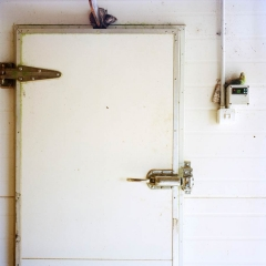 Chiller Door. Photograph by Abby Storey for the series Of the Land.