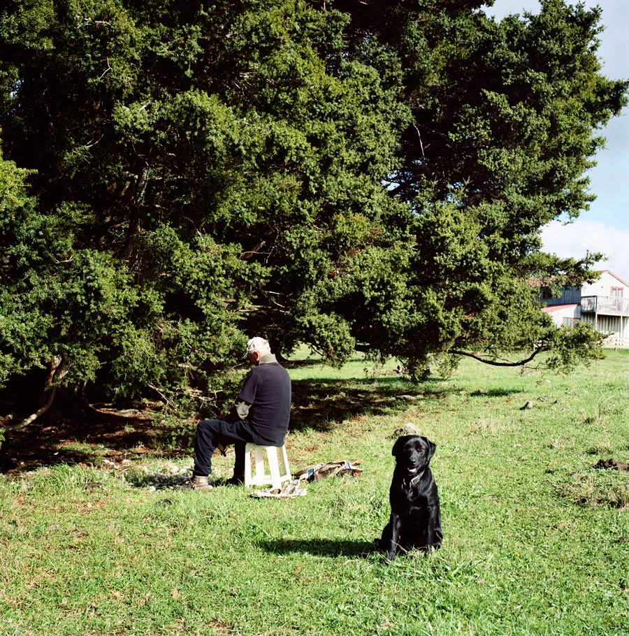 Plucking Ducks With A Watchful Dog. Photograph By Abby Storey For The Series Of The Land.