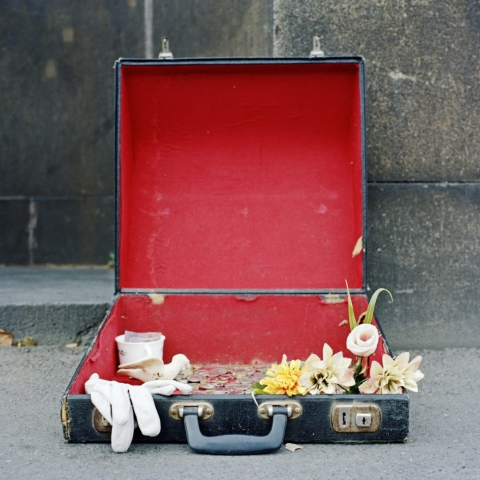 Suitcase Of Treasures, 2009, from Touchstones; a series of images reflecting on humanity, the things we value and the consequences of this in a world of contingencies.