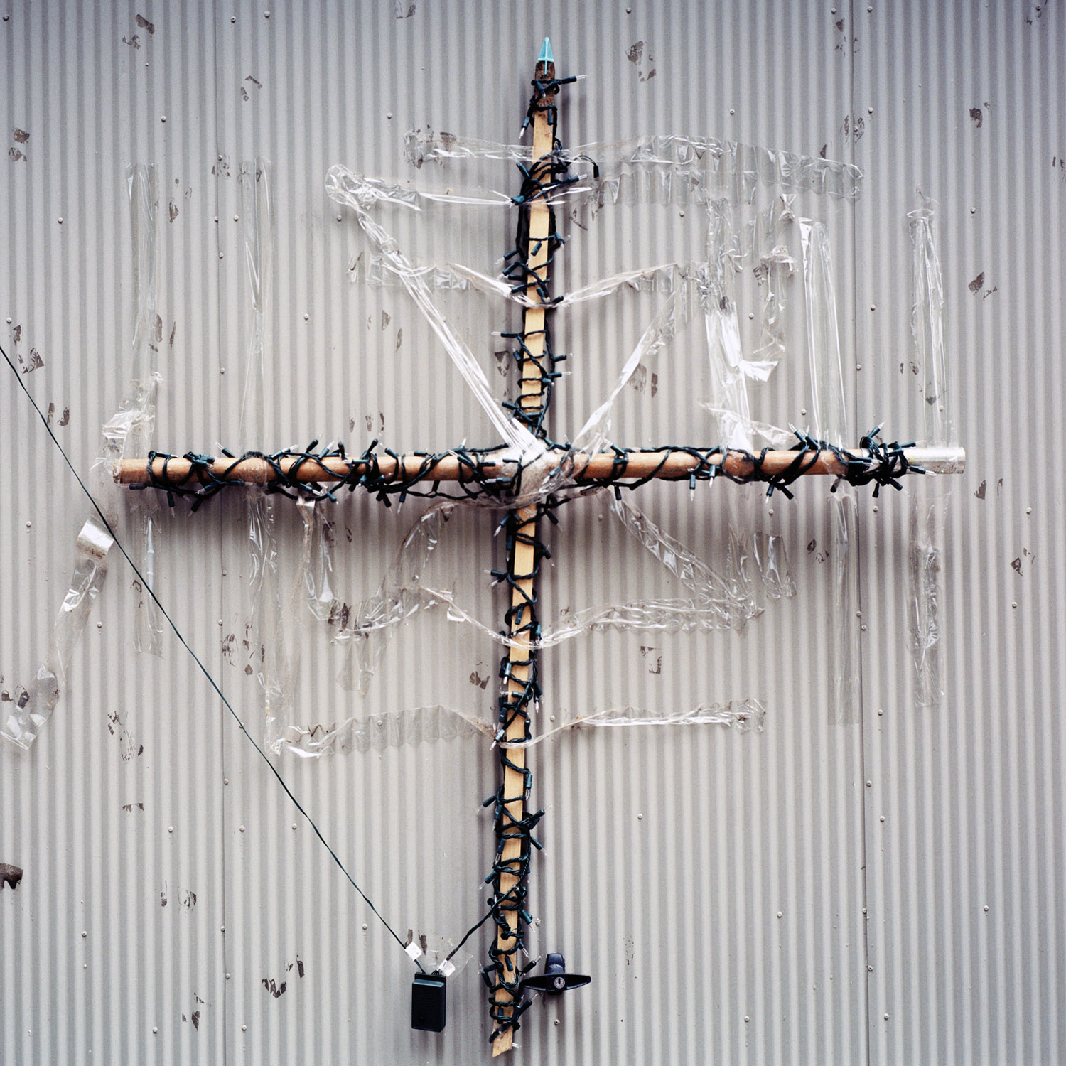 Selotaped Cross, 2006, From The Series Touchstones By Abby Storey.